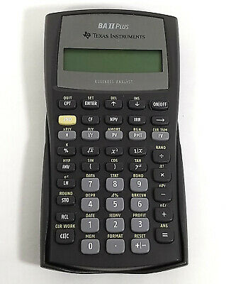 Texas Instruments BA II Plus Financial Calculator Accounting Business