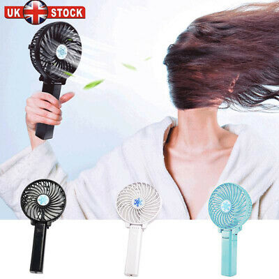 Mini Portable Hand-held Small Folding Desk Fan Cooler Cooling USB Rechargeable M
