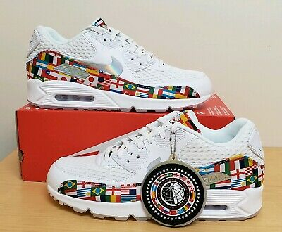 8c7b5d9b39 NIKE AIR MAX 90 NIC QS One World Cup International Flag Pack Sz 11 ...