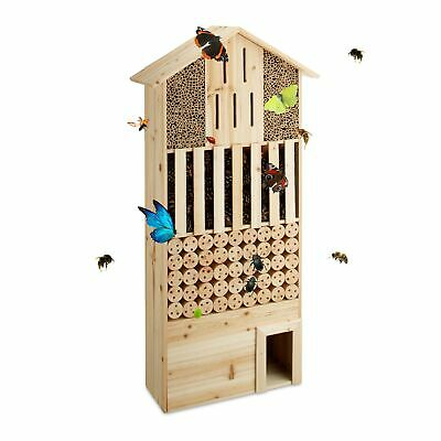 Relaxdays Free-Standing XXL Insect Hotel, Nest Help for Bees, Butterflies, He...