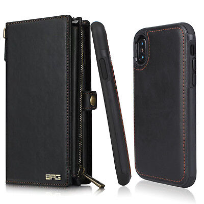 Apple iPhone X 5.8 inch 2017 Genuine Leather Wallet Case For Man/Husband /Father
