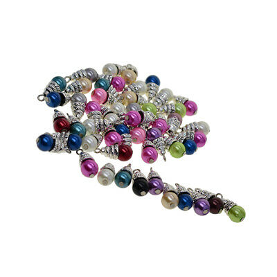 72pc Mixed Faceted Glass Pendants Mini Dangle Charms For Earring Crafting 74x1mm
