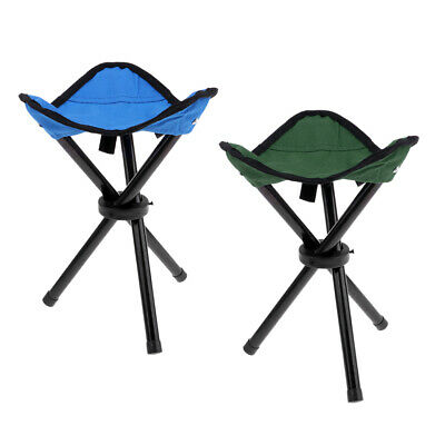 Folding Chair Foldable Stool Seat Tripod Camping Backpacking Garden Home Use