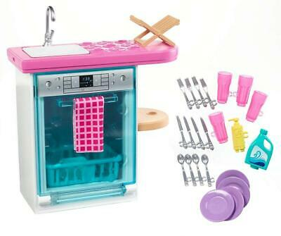 Barbie FXG35 Indoor Furniture Set, with Kitchen Dishwasher, Multicolored