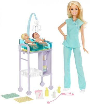 Barbie Careers doll, Baby Doctor Playset with Dolls and Accessories