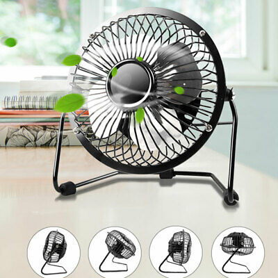 Usb Mini Fan Portable Cooling Desk Quiet Brass Fan For Computer Laptop Pc Uk