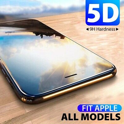 5D Full Cover Tempered Glass Screen Protector For Apple iPhone 8 7 6 6s Plus Sw