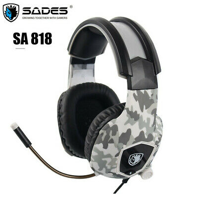 Wired 3.5mm Sades Gaming Headset Stereo Bass Headphone W/Mic For PS4 Xbox one PC