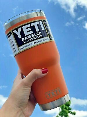 Brand New YETI Rambler 30 OZ Tumbler Clear Lid Seafoam Red Navy Black + More