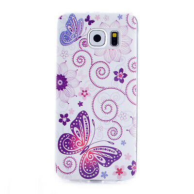 Butterfly TPU Slim Thin Soft Case Back Cover Skin Shell for Samsung S6 & S6 Edge