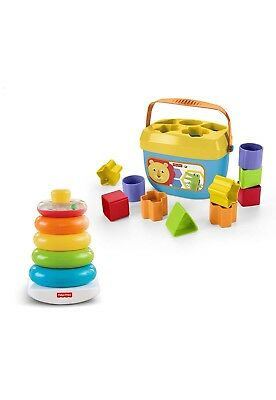Fisher Price Rock a Stack Baby's First Blocks Bundle Toy Educational Boys Girls