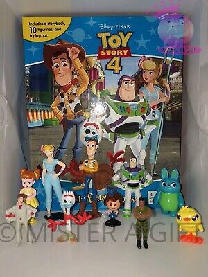 Disney Pixar Toy Story 4  BUSY BOOK - STORY 10 FIGURES FREE P+P