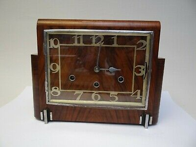 Haller Art Deco Style Mantle Clock with Westminster Chime for Restoration