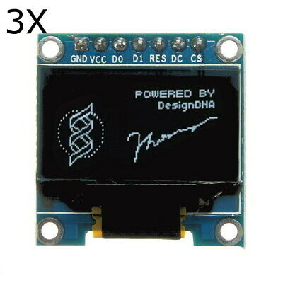 3Pcs 7 Pin 0.96 Inch IIC/SPI Serial 128x64 White OLED Display Module For Arduino