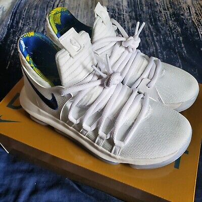 bb2ad4d52013e0 Nike Zoom KD 10 X LMTD NBA Golden State Warriors White Game Royal Shoes Sz 7