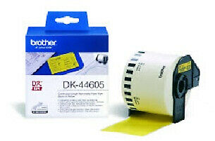 Brother DK44605 DK-44605 Continuous Removable Yellow Paper Tape (62mm) Labels