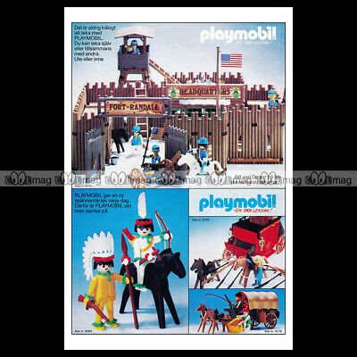 #phpb.001603 Photo PLAYMOBIL VINTAGE CLASSIC A4 Advert Reprint
