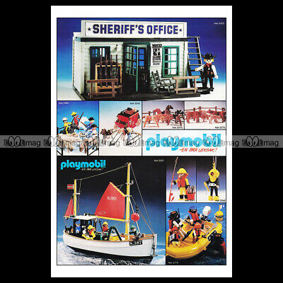 #phpb.001606 Photo PLAYMOBIL VINTAGE CLASSIC A4 Advert Reprint