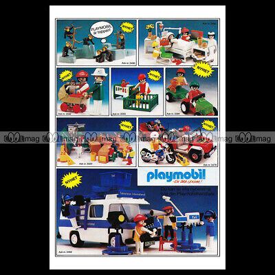 #phpb.001607 Photo PLAYMOBIL VINTAGE CLASSIC A4 Advert Reprint