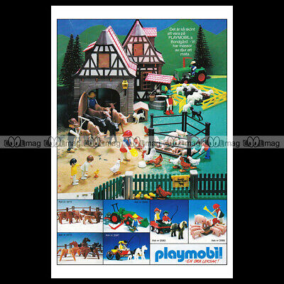 #phpb.001609 Photo PLAYMOBIL VINTAGE CLASSIC A4 Advert Reprint