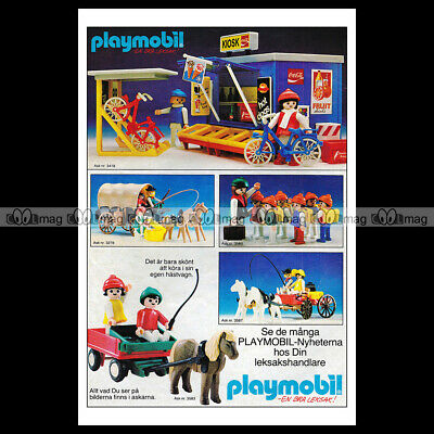 #phpb.001617 Photo PLAYMOBIL VINTAGE CLASSIC A4 Advert Reprint