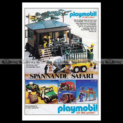 #phpb.001618 Photo PLAYMOBIL VINTAGE CLASSIC A4 Advert Reprint