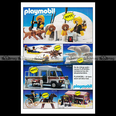 #phpb.001602 Photo PLAYMOBIL VINTAGE CLASSIC A4 Advert Reprint