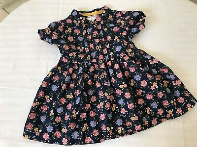 Carter's Cotton Dress Navy w Pink and light Blue Flowers, 0- 3 Mo Classy girly