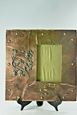 Fabulous Large Copper & Brass Arts & Crafts Frame c1900