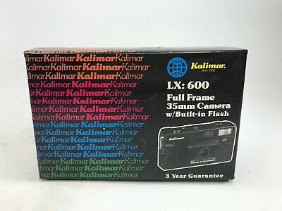 Vintage Kalimar LX-600 Point & Shoot 35mm Film Camera with Case BRAND NEW!