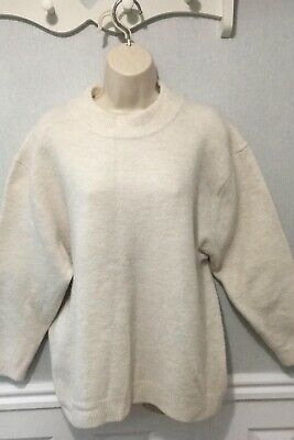 dcf91a0e8ac WOMEN'S ZARA KNIT Cream Knitted Jumper Sweater With Tassels To Side ...