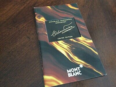 Montblanc Dostoevsky Brochure Booklet Documents
