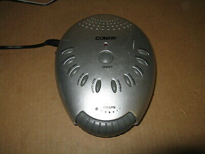 Conair Sound Therapy Sound Machine 10 Soothing Sounds Auto-Off Timer SU1