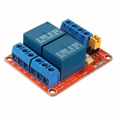 10Pcs 12V 2 Channel Relay Module With Optocoupler Support High Low Level