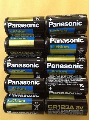 10-pack Panasonic Lithium CR123A 3V CR17345 Camera Photo  Batteries EXP2027