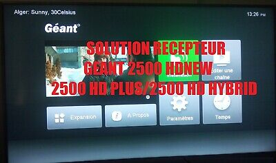 Service SOLUTION Gamme Geant 2500/NEW/PLUS/HYBRID