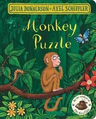NEW Monkey Puzzle By Axel Scheffler Board Book Free Shipping