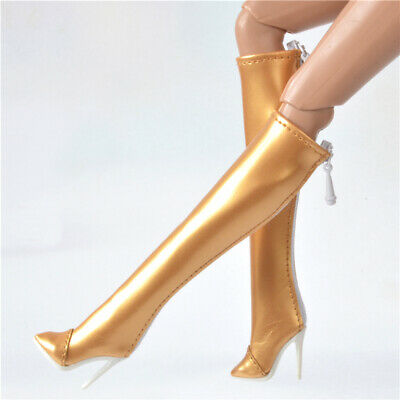 Boots shoes for Fashion royalty FR2 Nu Face 2 poppy parker Obitsu 23 25 27 Gold