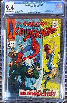 SPIDERMAN SPIDER-MAN COMIC #59 CGC 9.4 1st APPEARANCE OF MARY JANE 1968 NR MINT