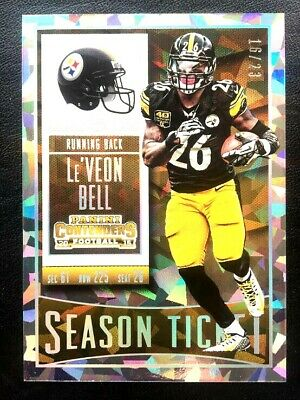 2015 Contenders Cracked Ice Non Auto Leveon Le'Veon Bell /23 STEELERS JETS