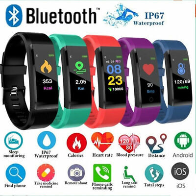 Smart Sport Bracelet Watch Fitness Activity Tracker Heart Rate Monitor Band iOS