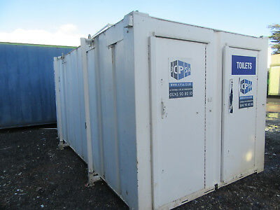 16ft x 9ft ANTI VANDAL TOILET BLOCK 3+1 SO 3 MALE & 2 FEMALE TOILETS 1950 + VAT