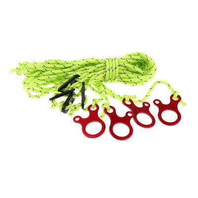 4pcs/set 4mm Reflective Camping Tent Guide Rope Guy Line Cord with Adjusters