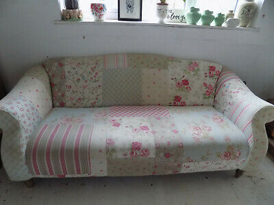 Dfs 3 Seater Doll Patchwork Sofa Very Comfy