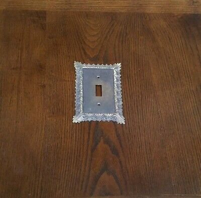 Vintage Solid Brass Ornate Light Switch Plate Cover