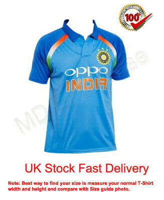 India Cricket Team Supporter Shirt/Jersey 2019 World Cup * Best Quality *