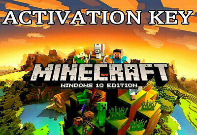 Minecraft Windows 10 Edition, PC, CD KEY,  Activation Key Only, FULL GAME