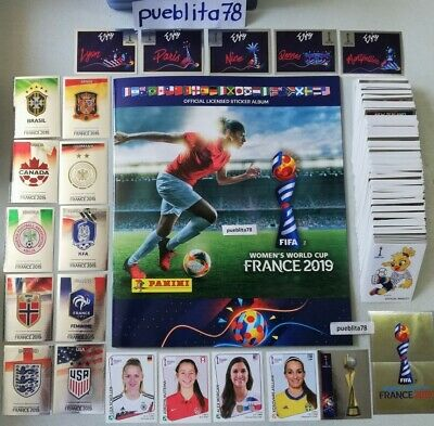 Panini Women World Cup 2019 France Complete set all 480 Stickers + Album