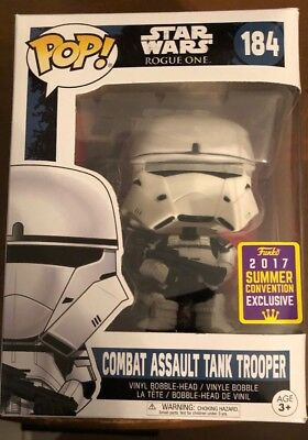 Funko Pop! Star Wars #184 Rogue One Combat Assault Tank Trooper Sdcc Exc Nib