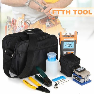 FTTH Tool Set Visible Fiber Optic Fault Locator Power Meter Cleaver Plier Useful